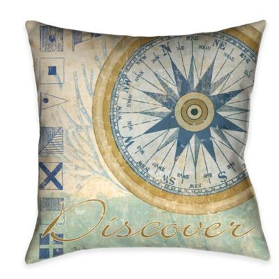 Laural Home® Mariner's Sentiment IV Square Throw Pillow