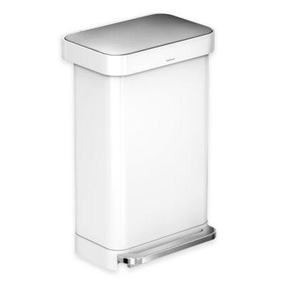Buy Simplehuman 174 Round 1 1 5 Gallon Step Wastebasket In