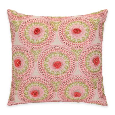 Flowers Square Decorative Pillow