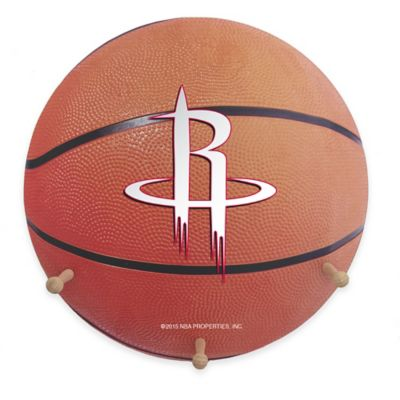 NBA Houston Rockets Team Logo Basketball Coat Rack