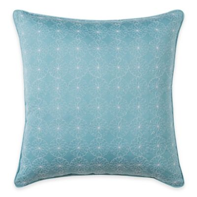 Wendy Bellissimo™ Sunrise Eyelet Square Throw Pillow in Soft Blue