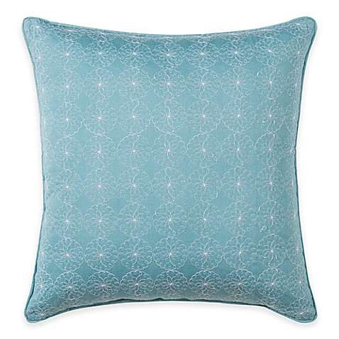 Buy Wendy Bellissimo Sunrise Eyelet Square Throw Pillow in Soft Blue from Bed Bath & Beyond