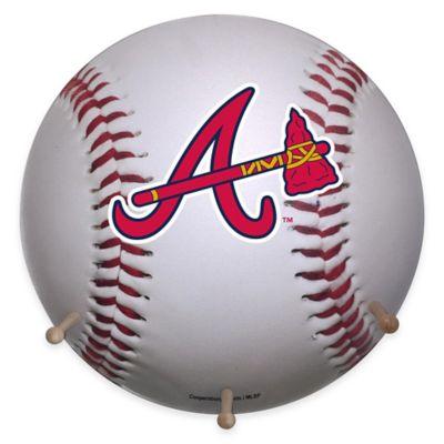 MLB Atlanta Braves Team Logo Baseball Coat Rack