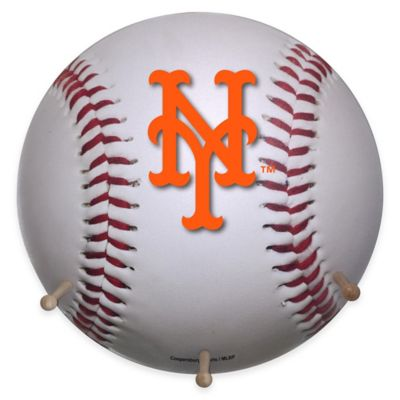 MLB New York Mets Team Logo Baseball Coat Rack