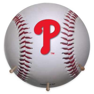 MLB Philadelphia Phillies Team Logo Baseball Coat Rack