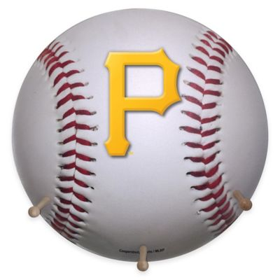 MLB Pittsburgh Pirates Team Logo Baseball Coat Rack