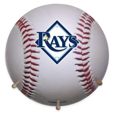 MLB Tampa Bay Rays Team Logo Baseball Coat Rack