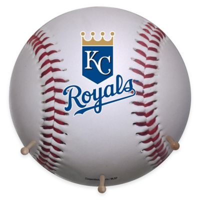 MLB Kansas City Royals Team Logo Baseball Coat Rack