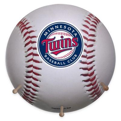 MLB Minnesota Twins Team Logo Baseball Coat Rack