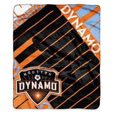 MLS Houston Dynamo Super-Plush Raschel Throw Blanket
