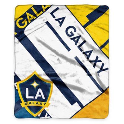 MLS Los Angeles Galaxy Super-Plush Raschel Throw Blanket