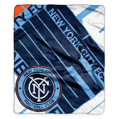 MLS New York City FC Super-Plush Raschel Throw Blanket