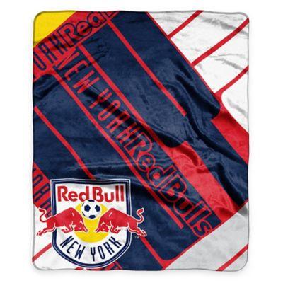 MLS New York Redbulls Super-Plush Raschel Throw Blanket