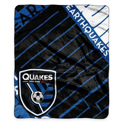 MLS San Jose Earthquakes Super-Plush Raschel Throw Blanket
