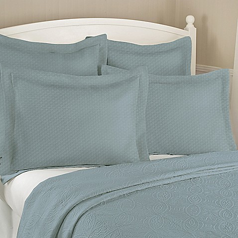 buy diamond matelass standard pillow sham in aqua from bed bath beyond. Black Bedroom Furniture Sets. Home Design Ideas