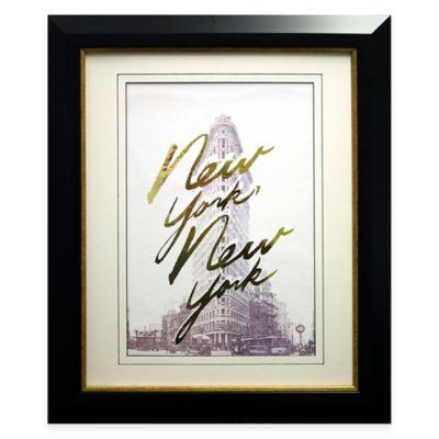Gilded New York Framed Wall Art