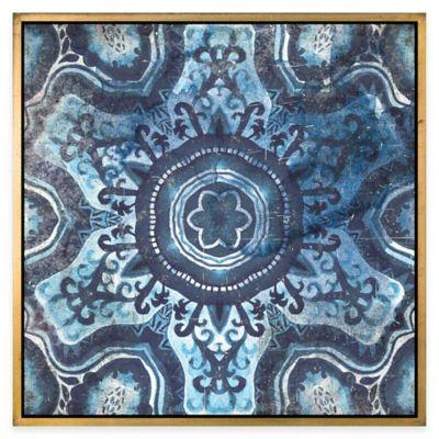 Ren-Wil Blue Tile 1 Framed Canvas Wall Art