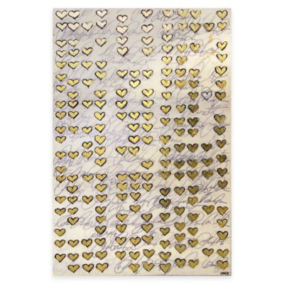 Ren-Wil Gold Hearts Canvas Wall Art