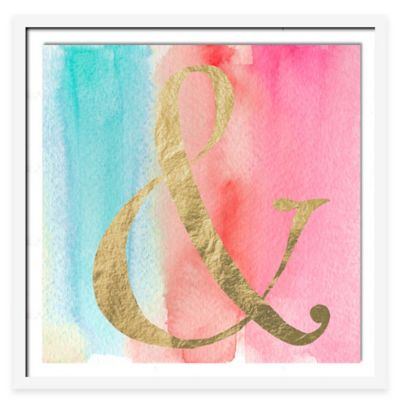 And I Will Wall Art in Pink/Gold