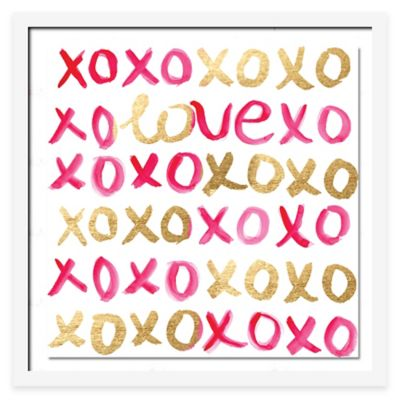 LoveXO Wall Art in Pink/Gold