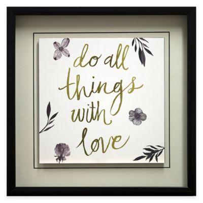 """""""Do All Things"""" Framed Wall Art"""