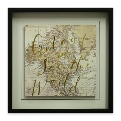 """""""Get Out and See the World"""" Framed Wall Art"""