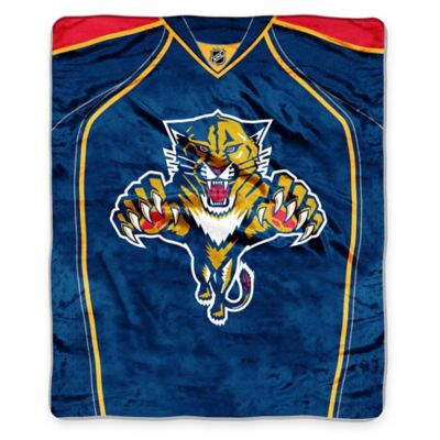 NHL Florida Panthers Super-Plush Raschel Throw Blanket