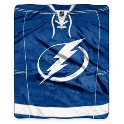 NHL Tampa Bay Lightning Super-Plush Raschel Throw Blanket