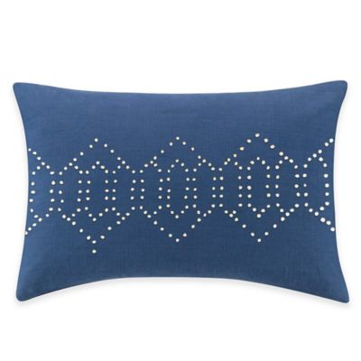 Kas Australia Ingrid Fence Oblong Throw Pillow