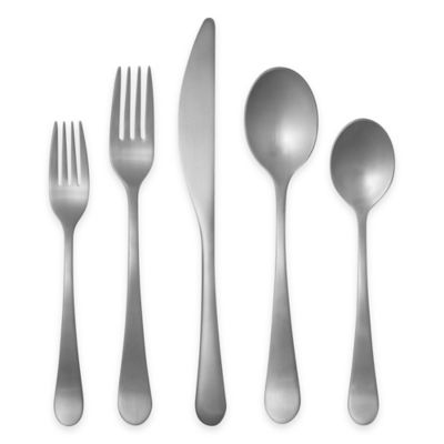 Gourmet Settings Windermere Matte 20-Piece Flatware Set