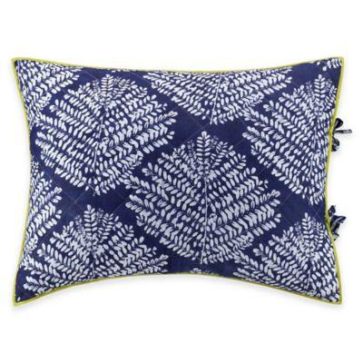 Kas® Twilight King Pillow Sham in White/Indigo