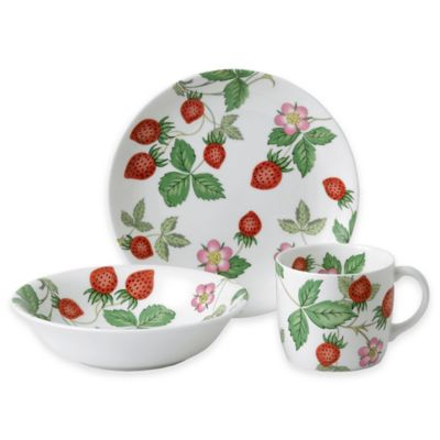 Wedgwood® Al Fresco Wild Strawberry Nurseryware 3-Piece Set