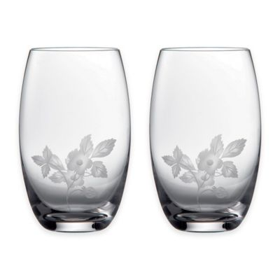 Wedgwood® Al Fresco Wild Strawberry Pimms Glasses (Set of 2)