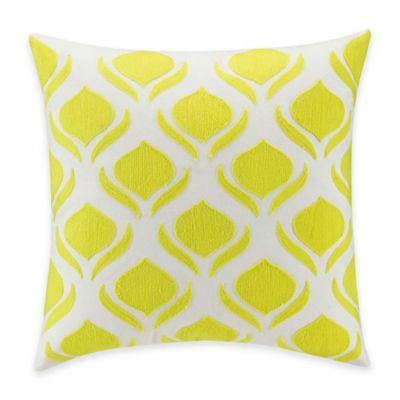 Kas® Twilight Gillian Square Throw Pillow in White/Yellow