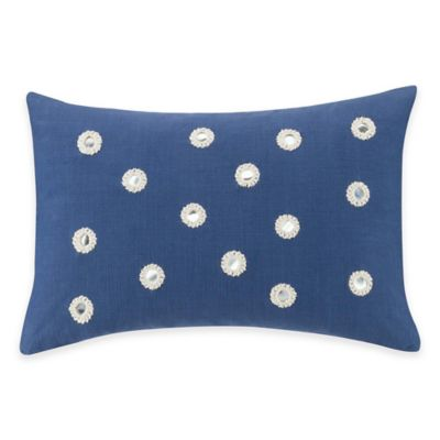 Kas® Twilight Mirror Oblong Throw Pillow in Navy