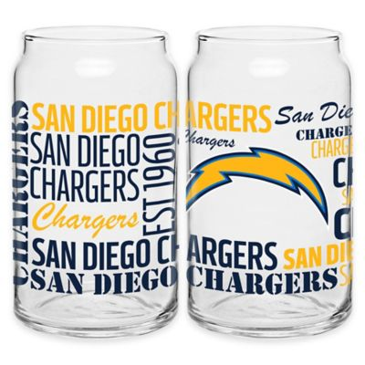 NFL San Diego Chargers Spirit Glass Can