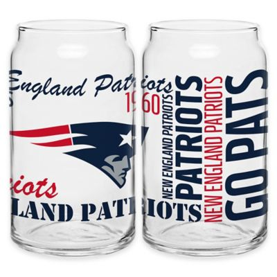NFL New England Patriots Spirit Glass Can