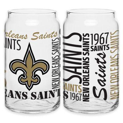 NFL New Orleans Saints Spirit Glass Can