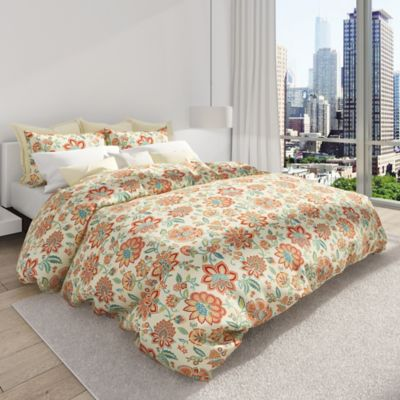 Colorfly™ Bella King Duvet Cover Set in Melon