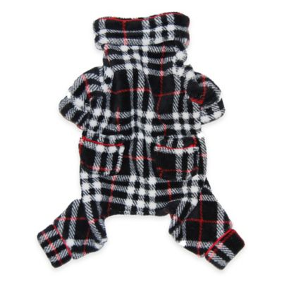 Pawslife™ Small Plaid PJs in Black