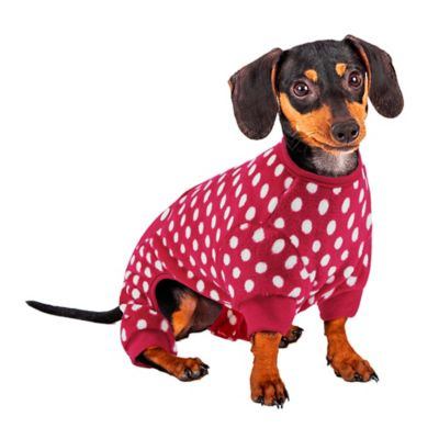 Small Polka Dot Paw PJs in Red