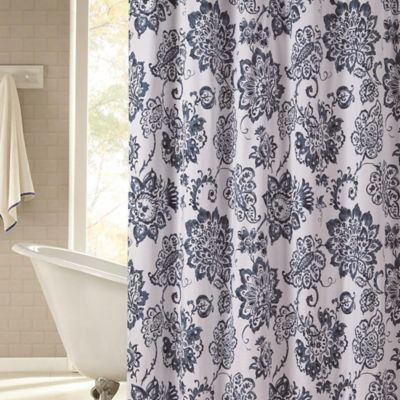 Avignon 72-Inch x 96-Inch Shower Curtain in Navy