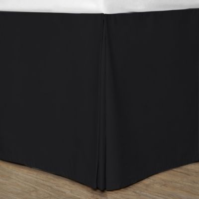 Cotton Dream Colors Twin Bed Skirt in Black