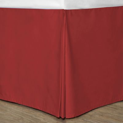 Cotton Dream Colors California King Bed Skirt in Scarlet