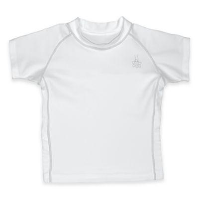 i play.® Size 4T Short Sleeve Rashguard in White