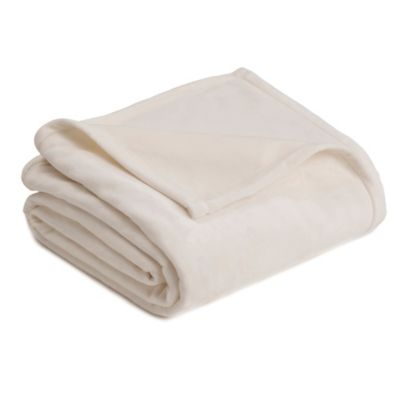 Vellux Twin Plush Blanket in Ivory