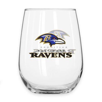 NFL Baltimore Ravens Curved Beverage Glass