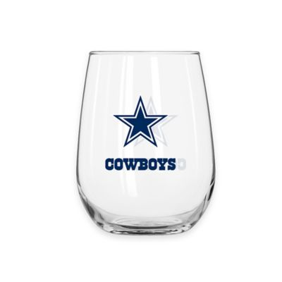 NFL Dallas Cowboys Curved Beverage Glass