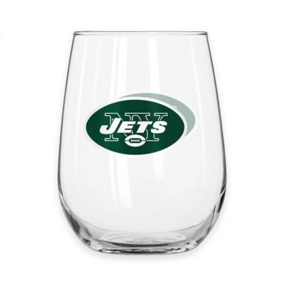 NFL New York Jets Curved Beverage Glass