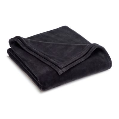Vellux® Full/Queen Sheared Mink Blanket in Charcoal